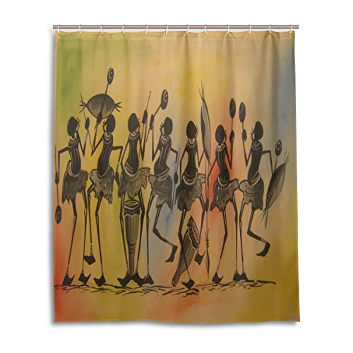 WBKCQB Unisex African Dance Shower Curtain Waterproof CurtainFashion And Comfortable60