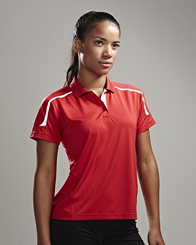 Tri-Mountain Womens 100% Polyester Contrast Sports Golf Shirt (11 colors)