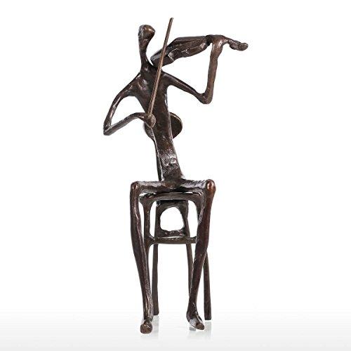 Artistic Sculpture - Violin Sculpture Artistic and Artwork Handcraft Decorative Statue for Musicians, Music Love, Art Love and Violiner