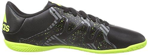 adidas X 15.4 IN  Indoor Unisex-Kinder Fußballschuhe Schwarz (Core Black/Solar Yellow/Night Met. F13)