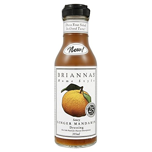 Briannas Homestyle Saucy Ginger Mandarin Dressing (355ml) - Pack of 2 (Walker Saucy)