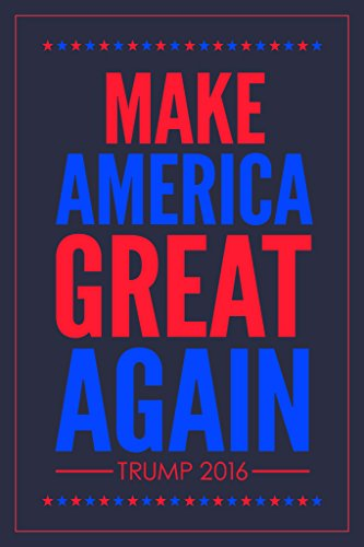 Make America Great Again Trump 2016 Republican Presidential Election Patriotic Blue Poster - America Frame Make Great Again