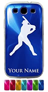 Samsung Galaxy S3/Siii Case/Cover - BASEBALL PLAYER, BATTER - Personalized for FREE (Send us an Amazon email after purchase with your engraving request)