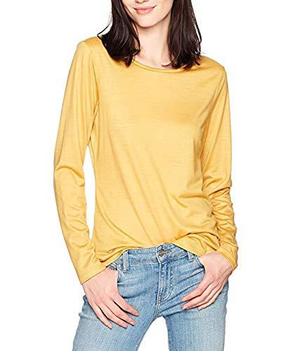 Unie Shirts Jumpers Printemps Hauts Rond Casual T et Shirts Tops Tees Blouse Automne Sweat Fashion Manches JackenLOVE Kaki Col Longues Couleur Femmes q8RwggX