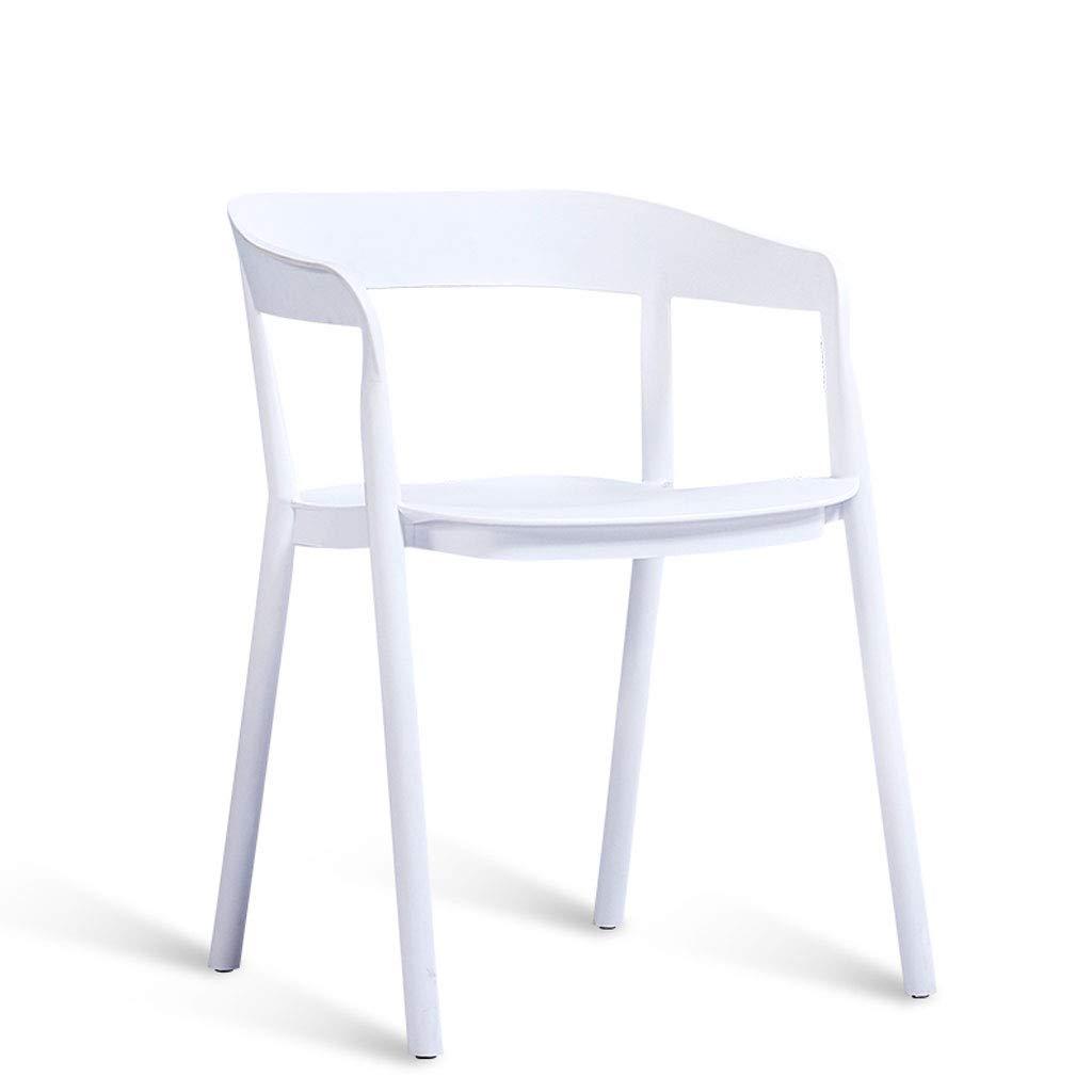 White L44CMXW37CMXH75CM CHX Nordic Minimalist Study Home Chair Creative Casual Plastic Armchair C (color   bluee, Size   L44CMXW37CMXH75CM)