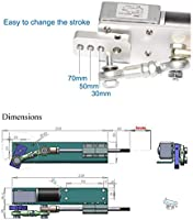 BEMONOC DIY Design DC 24V Linear Actuator Reciprocating Motor Stroke 70mm  Adjustable+Switching Power Supply 110V-240V+PWM Speed Controller
