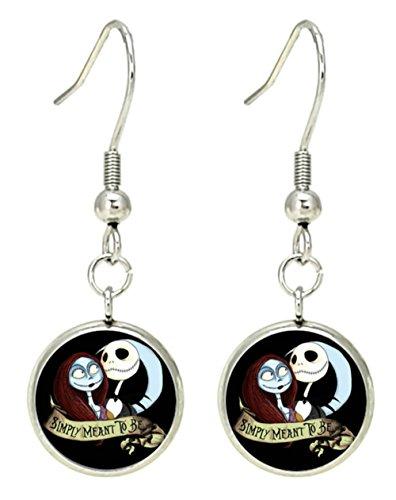 The Nightmare Before Christmas Disney Dangle Earrings Premium Quality Silvertone TV Comics Movies Cartoons