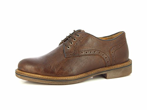 ALBERTO TORRESI Mens DURBEY Brown Blue Lace UP Dress Shoe - Classic Formal Geniune Leather Shoes With Leather Sole Belt Dark Brown Blue uXxyt4