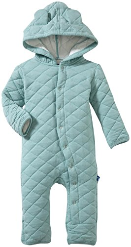 Kickee Pants Quilted Hoodie Coverall with Ears, Jade, 18-24 Months