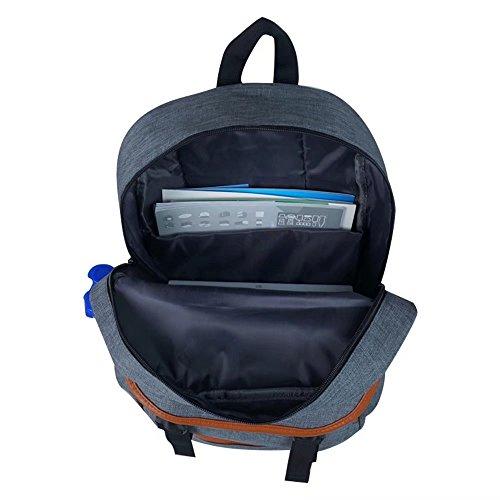 Buzzfashion Leichte Schule Laptop PC Schulter Tasche Rucksack Reise Leinwand Kausalen Rucksack Modische Rucksack Rucksack Blau Grau imn7tPre