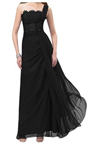 Toskana novia Completo One Estimulante Shoulder Noche de gasa Vestidos Largo con Punta Vestidos de novia Party Ball negro