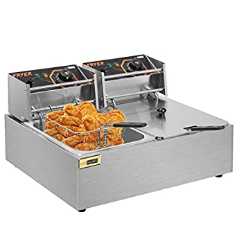 6L 2500W Commercial Electric Deep Fryer Kitchen Restaurant Frying Chip w//  CA