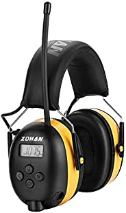 ZOHAN EM042 AM/FM Radio Headphone with Digital Display, Ear Protection Noise Reduction Safety Ear Muffs, Ultra