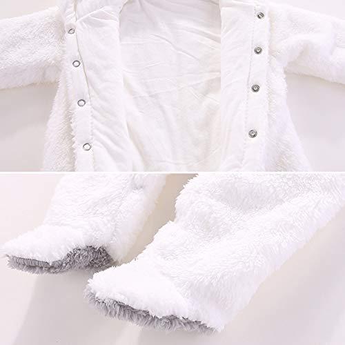 Haokaini Traje de Nieve c/álido para beb/é Oso Mono de Mameluco con Capucha de Felpa de algod/ón para ni/ñas ni/ño