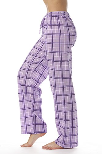 Just Love Women Plaid Pajama Pants Sleepwear 6324-PUR-10281-S by Just Love (Image #1)