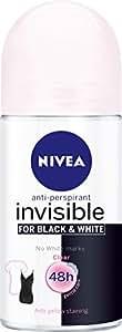 NIVEA Black and White Clear Roll On Anti-Perspirant Deodorant, 50ml