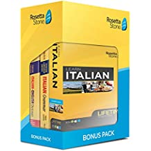 Learn Italian: Rosetta Stone Bonus Pack (Lifetime Online Access + Book Set)