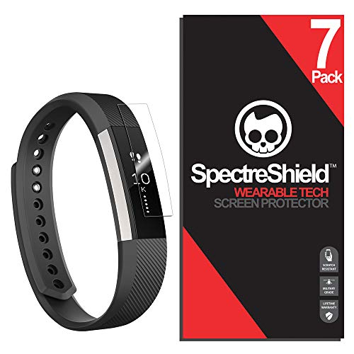 Spectre Shield for Fitbit Ace & Alta HR Screen Protector (7-Pack) Flexible Full Coverage Ultra HD Clear Anti-Bubble Anti-Scratch Unlimited Replacement Film