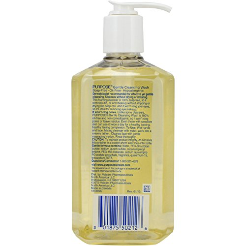 Purpose Gentle Cleansing Wash, 12 oz (Pack of 6) EShave - Face Wash - White Tea - 113g/4oz