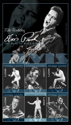 Elvis Presley - Rock and Roll Legend - Beautiful Collectors Stamps - Sierra Leone