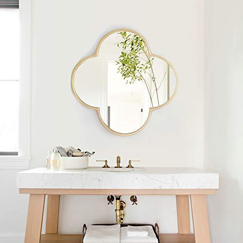 Metal Plum-Shaped Wall Mirror | Irregular Mirror | Bathroom, Vanity, Bedroom Mirror -