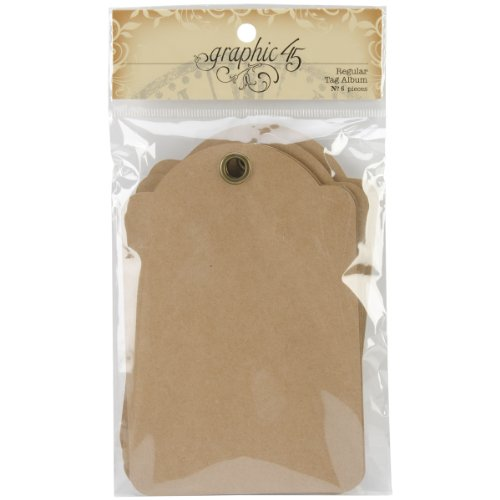 Graphic 45 Tag Album Staples, Regular - Adhesive Tags Chipboard