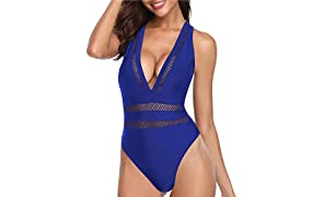 Tempt Me Women One Piece Plunge Monokini Sexy Hollow Out Swimsuits Bathing Suit