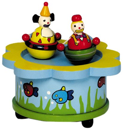 (MusicBox Kingdom 43720 The Dancing Clowns Music Box Playing