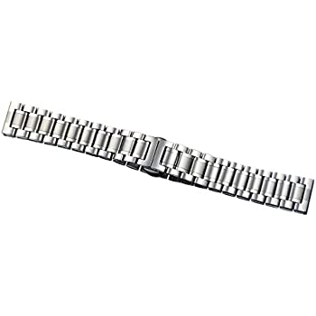 15mm Ladies Luxurious Small Narrow Stainless Steel Watch Straps Belts Straight End