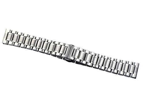 15mm Ladies' Luxurious Small Narrow Stainless Steel Watch Straps Belts Straight End