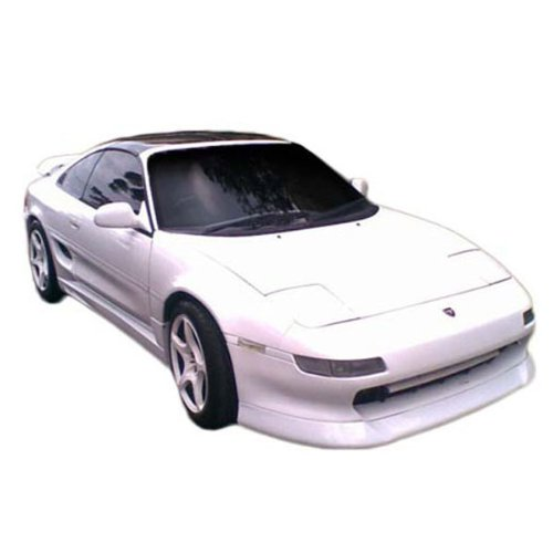 Front Bumper Lip Fits 1991-1995 TOYOTA MR2 | aero ware Style PU Black Front Lip Spoiler Splitter by IKON MOTORSPORTS | 1992 1993 1994
