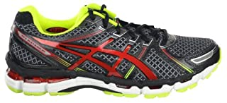 Asics Gel Kayano 19 Men's Running Shoes BlackRedLime Black