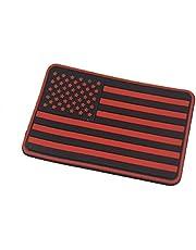 US Flag Rubber 3D Velcro Morale Patch/Rechterarm Patch (rood)