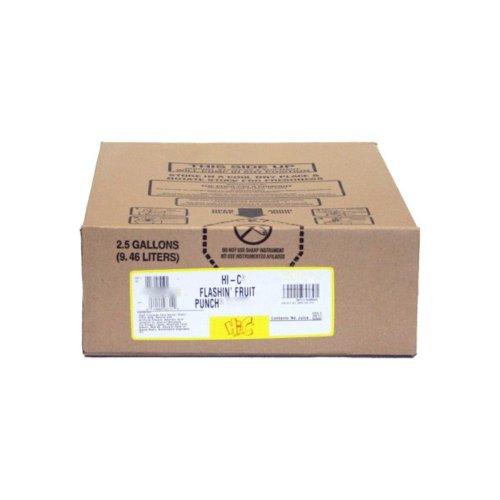 HI-C Flashin Fruit Punch Syrup 2.5 Gallon Bag in Box BIB - Hic Punch Fruit
