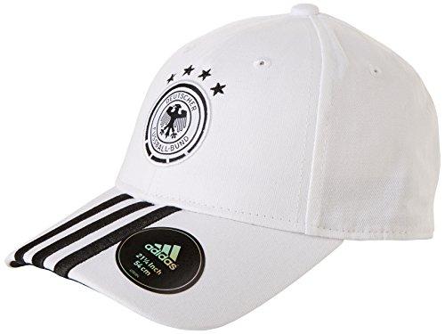 adidas Mütze DFB 3-streifen kappe Fußball, Weiß/Schwarz, OSFM, AH5730