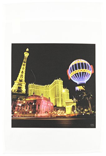 - 3dRose fl_37789_1 Paris Hotel and Casing at Las Vegas Strip United States Garden Flag, 12 by 18-Inch
