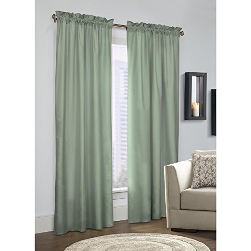 - Thermalogic Commonwealth Prescott Pole Top Curtain Panel Pair Sage 80'' (Each Panel 40'' Wide) x 45''