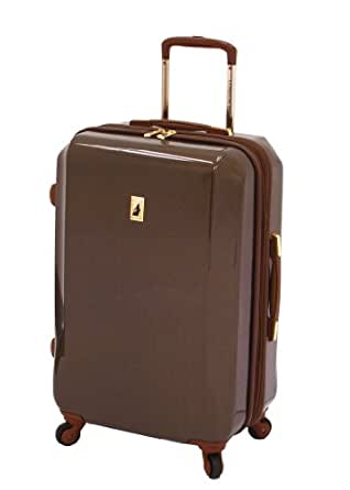 London Fog Luggage Windsor 360 Collection 24-inch Hardside Upright, Tan, One Size