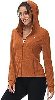 BGOWATU Women's UPF 50+ Sun Protection Long Sleeve Hoodie Full Zip for Outdoor Hiking Running Cycling Fis
