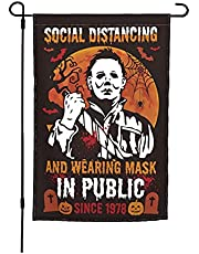 """Michael Myers Classic Horror Movie Halloween Garden Flag Vertical Double Side Printing, Halloween Decorations Yard Outdoor Decoration 12"""" x 18"""""""