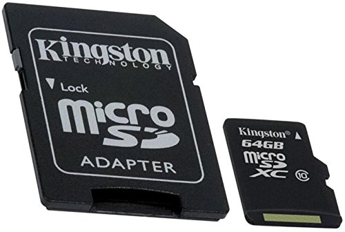 Professional Kingston 64GB MicroSDXC Blackberry 8200 Series 8220 (Pearl Flip) with custom formatting and Standard SD Adapter! (80Mbps / Class 10 / UHS-I)