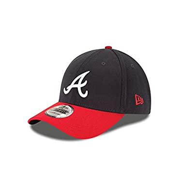 MLB Atlanta Braves Team Classic Home 39Thirty Stretch Fit Cap, Blue, Large/X-Large