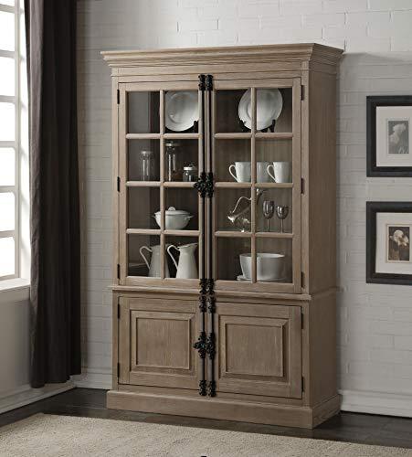 Acme Furniture Eleonore Curio Cabinet Weathered Oak