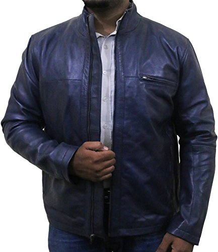 Laverapelle Men's Navy Blue Genuine Lambskin Leather Jacket - 1501135-3XL