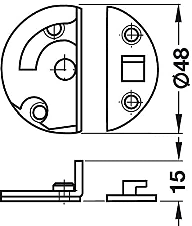 GedoTec Tornillo rotatorio Accesorios de mesa para Zar gentische Bares muebles Acero galvanizado giro de bloqueo para Taladro o tornillo Calidad de marca para su Sala de estar verzinkt 4 St/ück