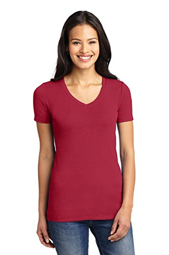 Port Authority Women's Concept Stretch V Neck Tee XS Rich Red (V-neck Ladies Tee Port Authority)