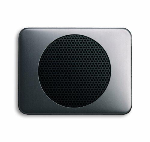 (Busch-Jaeger 8253-20 Cover plate for built-in loudspeakers, alpha Flush-mounted Ranges | alpha | platinum )