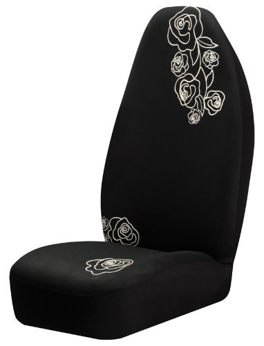 Auto Expressions 800002152 Black Lace Rose Universal Bucket Seat Cover Beautiful Expressions Roses