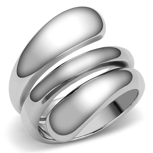 Lanyjewelry Designer Style 316 Stainless Steel Plain Women's Fashion Ring-10