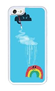 Apple Iphone 5C Case,WENJORS Uncommon Rain Rain Go Away Soft Case Protective Shell Cell Phone Cover For Apple Iphone 5C - TPU White